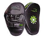 Боксерські Лапи PowerPlay 3051 Чорно-Зелені PU [пара], фото 2