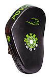Боксерські Лапи PowerPlay 3051 Чорно-Зелені PU [пара], фото 3