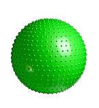 М'яч-масажер для фітнесу PowerPlay 4002 65см Салатовий + насос, фото 2