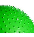 М'яч-масажер для фітнесу PowerPlay 4002 65см Салатовий + насос, фото 3