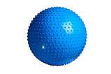 М'яч-масажер для фітнесу PowerPlay 4002 75см Синій + насос, фото 2