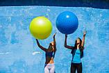 М'яч-масажер для фітнесу PowerPlay 4002 75см Синій + насос, фото 7