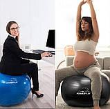 М'яч-масажер для фітнесу PowerPlay 4002 65см Зелений + насос, фото 10