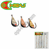Мормышка Mildas паяная безмотылка в блистере кобра №7 (50шт)