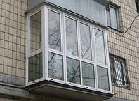 Французский балкон из металлопластиковых профилей