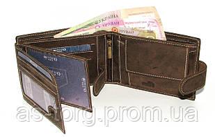 Коричневий шкіряний гаманець чоловічий Buffalo Wild