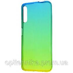 Силикон 0.5 mm Gradient Design Huawei P Smart Pro green_yellow