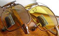 """Очки защитные - антифары  для водителей """"Мystery"""" - желтая светлая, темная линза"""