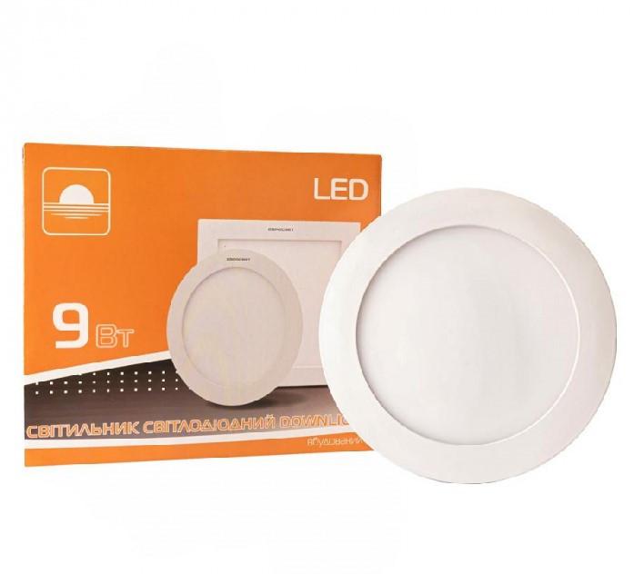 Светильник светодиодный встраиваемый ЕВРОСВЕТ LED-R-150-9 9Вт 6400K 150mm (000038836)