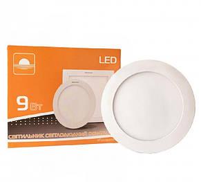 Светильник светодиодный встраиваемый ЕВРОСВЕТ LED-R-150-9 9Вт 6400K 150mm (000038836), фото 2