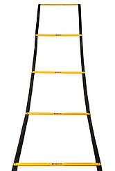 Беговая тренировочная лестница складная 12 ступеней 5,1 м цвет: желтый SECO