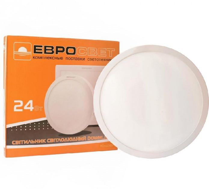 Светильник светодиодный встраиваемый ЕВРОСВЕТ LED-R-300-24 24вт 6400К 300мм (000039189)
