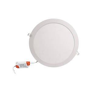 Светильник светодиодный встраиваемый ЕВРОСВЕТ LED-R-300-24 24вт 6400К 300мм (000039189), фото 2
