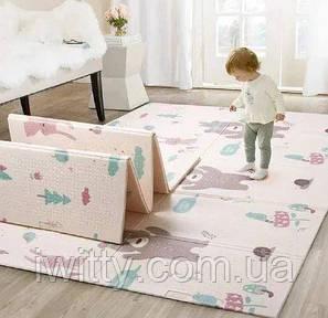 Детский  коврик Children GO 180* 150 , двусторонний, с рисунками и текстурным покрытием, фото 2