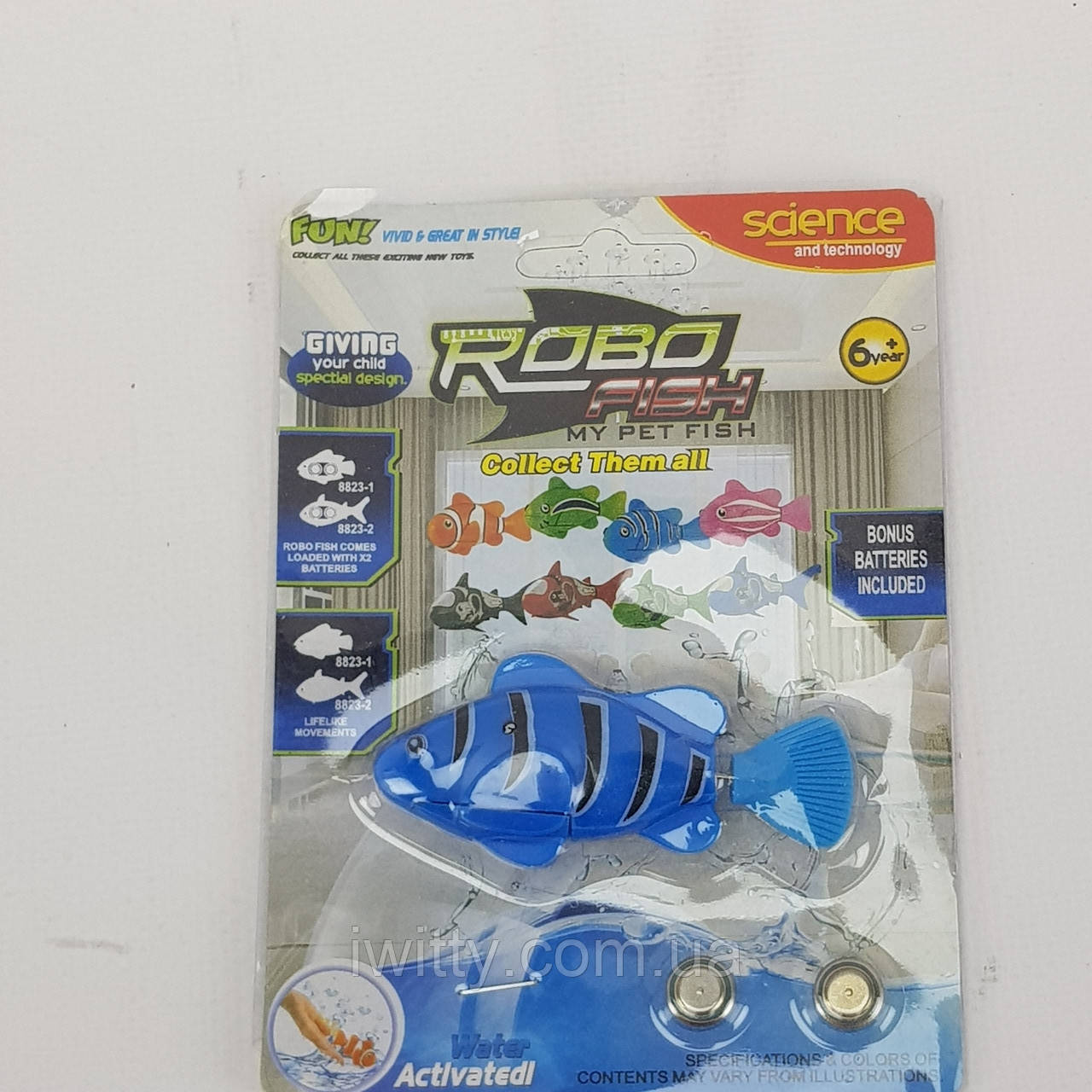 Рибка Робот на батарейках RoboFish (Синя)