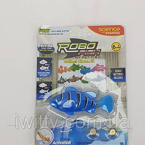 Рибка Робот на батарейках RoboFish (Синя), фото 2