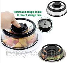 Вакуумная Крышка для пищи 25см Vacuum Food Sealer, фото 3