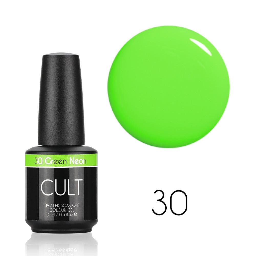 Гель лак CULT №30 Green Neon