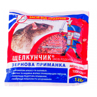 Засіб від гризунів Лускунчик зерно, пакет сир 120 г