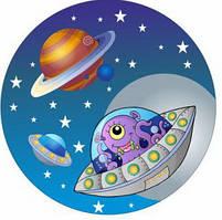 """Тарілки """"Космос"""". Розмір: 18см. В упак: 10шт."""