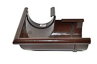Угол желоба внешний, 90 градусов (поворот желоба), водосточная система BRYZA 125 мм Цвет RAL 8017 коричневый.