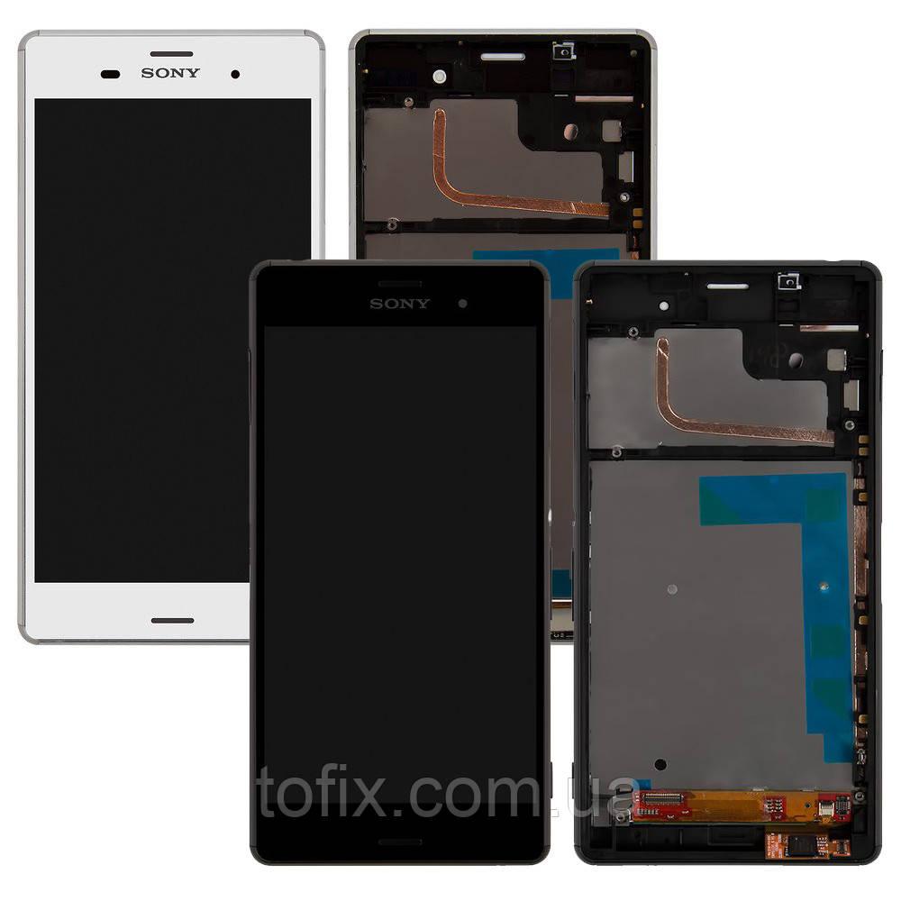 Дисплей для Sony Xperia Z3 D6603, D6643, модуль в зборі (екран і сенсор), з рамкою, оригінал