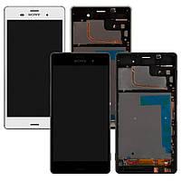 Дисплей для Sony Xperia Z3 D6603, D6643, модуль в зборі (екран і сенсор), з рамкою, оригінал, фото 1