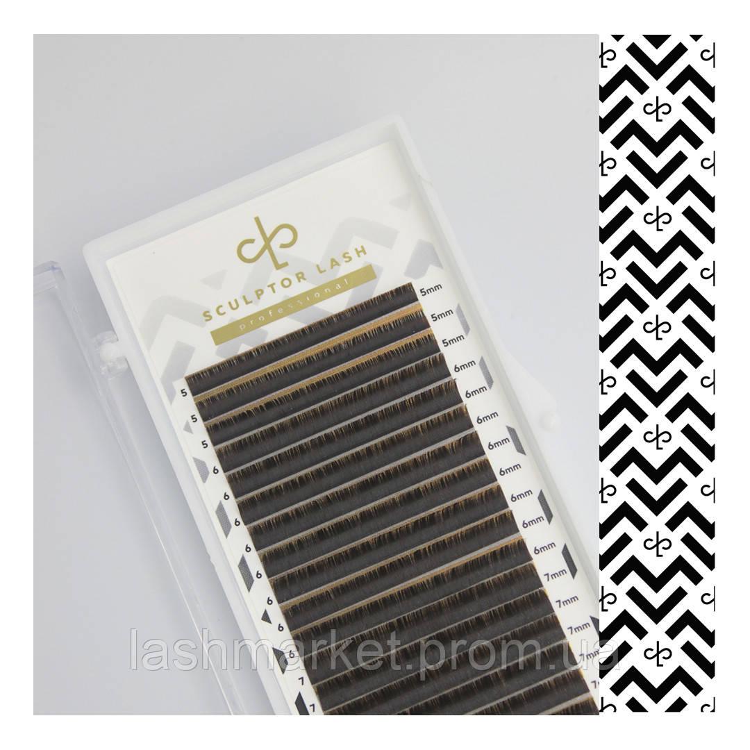 Ресницы Gold CC 0.07 - 12 мм черные (Sculptor Lash) ОТД ДЛИНА