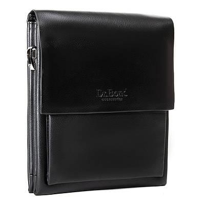 Мужская кожаная сумка планшет через плечо DR. BOND GL 314-3 black