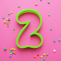 """Вырубка цифра """"2"""" (два)"""