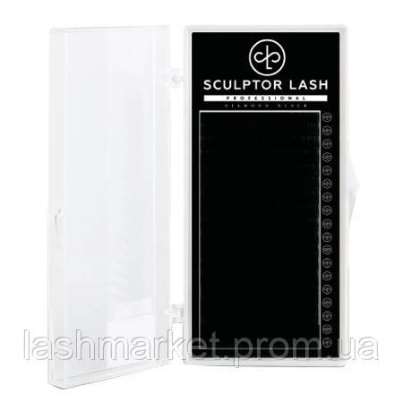 Вії ОТД ДОВЖИНА З 0.07 - 8 мм Sculptor Lash Diamond Black чорні(для нарощування вій)