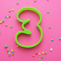 "Вырубка цифра  ""3"" (три)"