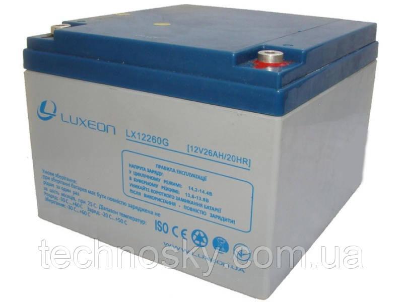 Гелевий акумулятор GEL-VRLA Luxeon LX12-260G