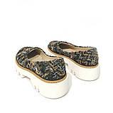 Туфли из обувного текстиля букле на массивной подошве, цвет микс, фото 4