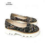 Туфли из обувного текстиля букле на массивной подошве, цвет микс, фото 2