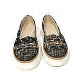 Туфли из обувного текстиля букле на массивной подошве, цвет микс, фото 3