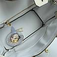 Сумка копия Хермес Биркин 30см золотая фурнитура / натуральная кожа (835-30) Молочная, фото 6