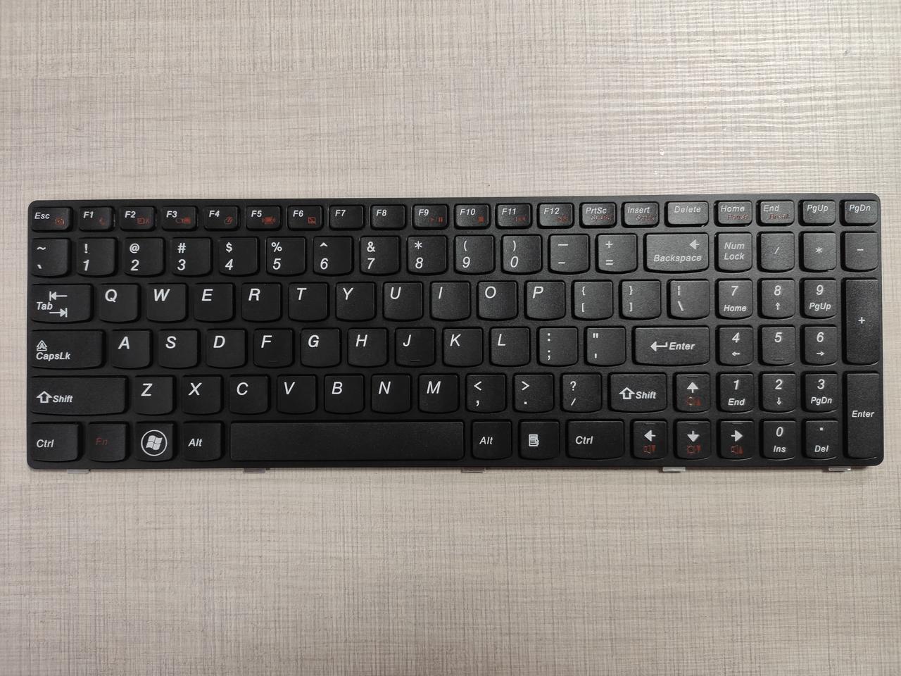 Клавиатура для ноутбука LENOVO (G580, G585, N580, N585, Z580, Z585) eng, black, black frame