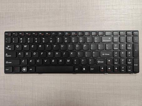 Клавиатура для ноутбука LENOVO (G580, G585, N580, N585, Z580, Z585) eng, black, black frame, фото 2
