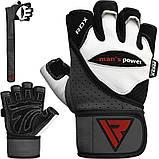 Перчатки для зала RDX Pro Lift Gel XL, фото 5