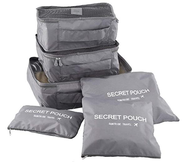 Набор дорожных органайзеров Secret Pouch СЕРЫЙ