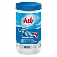 Химия для бассейнов мультитаблетки 5 в 1 hth Minitab 20g Action - 1,2 кг