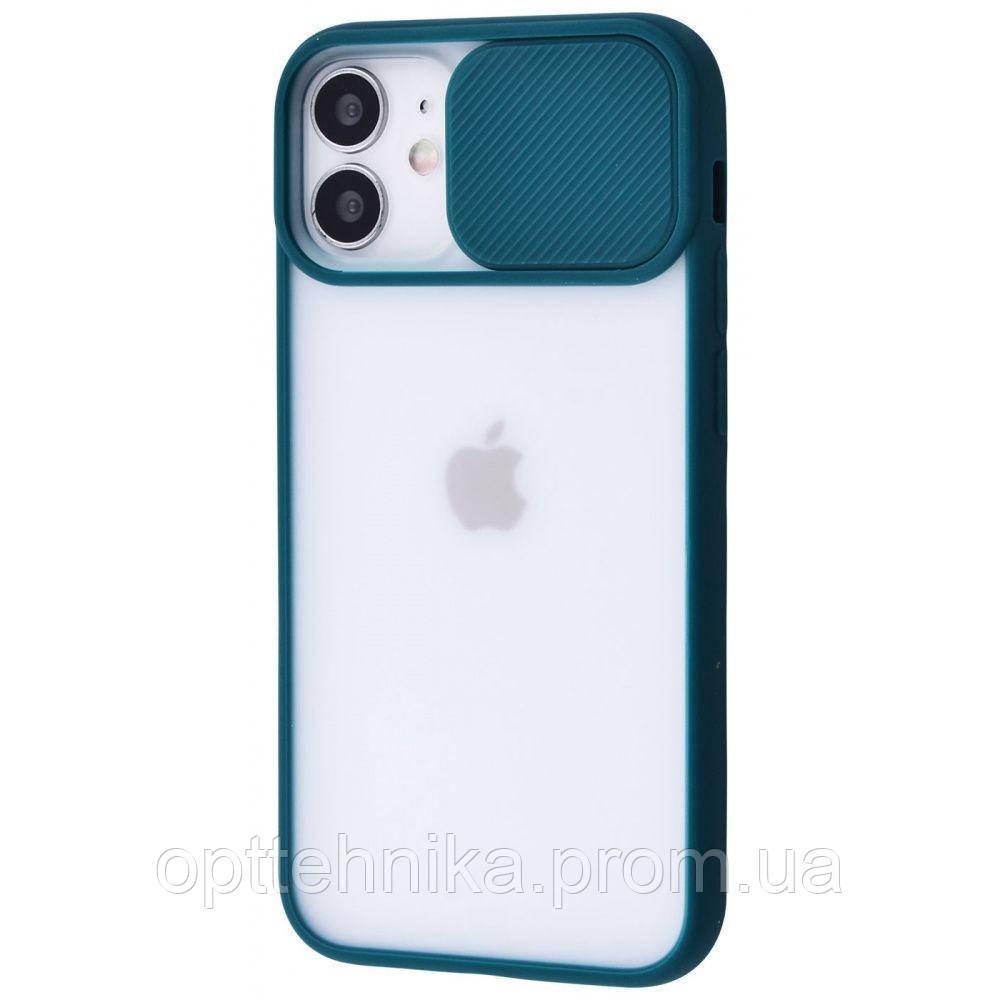 Camera Protect Matte Case (PC+TPU) iPhone 12 mini forest_green