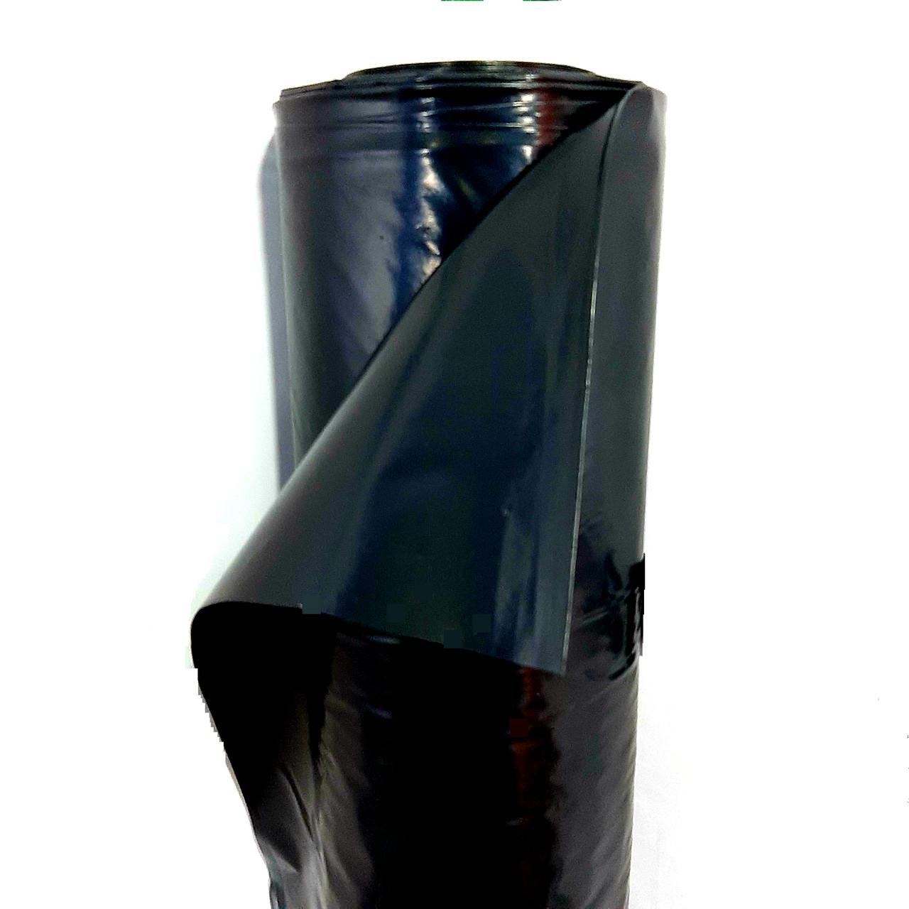 Пленка черная, 200мкм 3м/50м. полиэтиленовая (строительная). Для фундамента, бетона (стяжки).