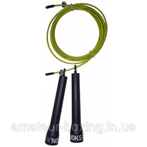 Скакалка для кроссфита V`Noks Steel желтая