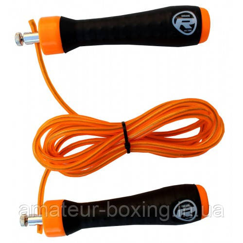 Скакалка RDX Steel Gel оранжевая