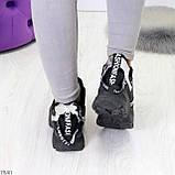Крутые модельные молодежные женские черные зимние кроссовки сникерсы, фото 9