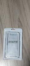 Стеклянный чехол для iPhone X - серебристый цвет