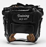 Боксерский шлем Leone Training Black M, фото 2