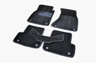 Коврики в салон 3D для Audi A6 (C7) 2011- /Черные 5шт 86291